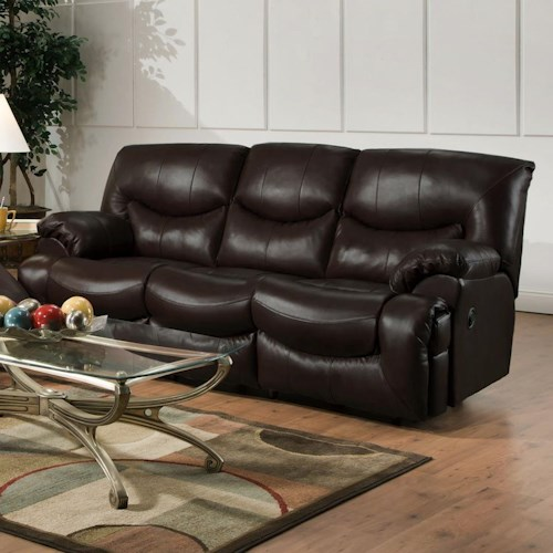 Franklin Challenger Reclining Sofa with Casual Style