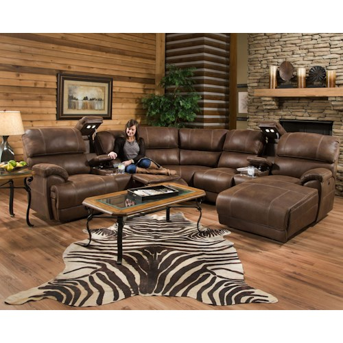 Franklin Empire Reclining Sectional Sofa with Left Side Chaise