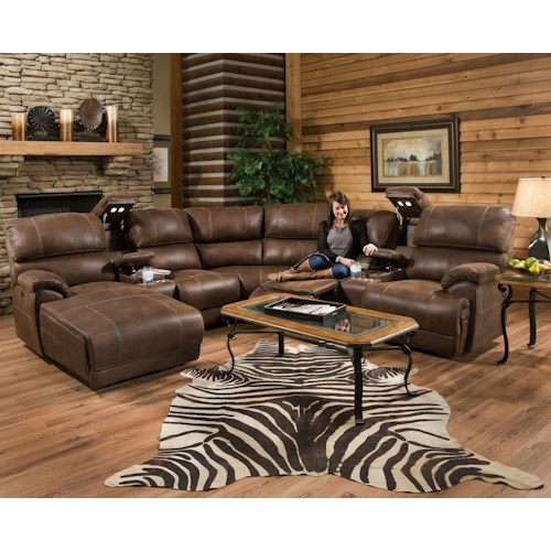 Franklin Empire Reclining Sectional Sofa with Right Side Chaise