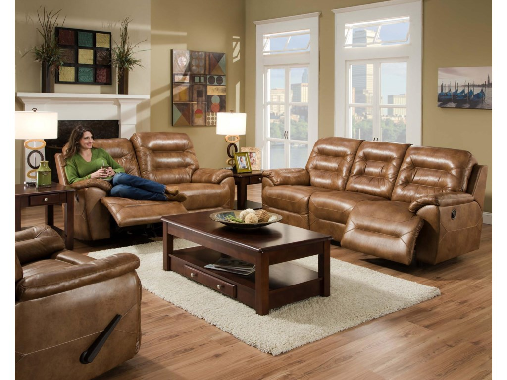 Shown with Coordinating Collection Sofa. Recliner Shown Lower Left Corner.