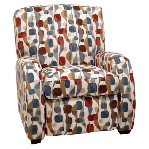 Franklin High and Low Leg Recliners  Cruz Modern Chair Recliner with Contemporary Furniture Style