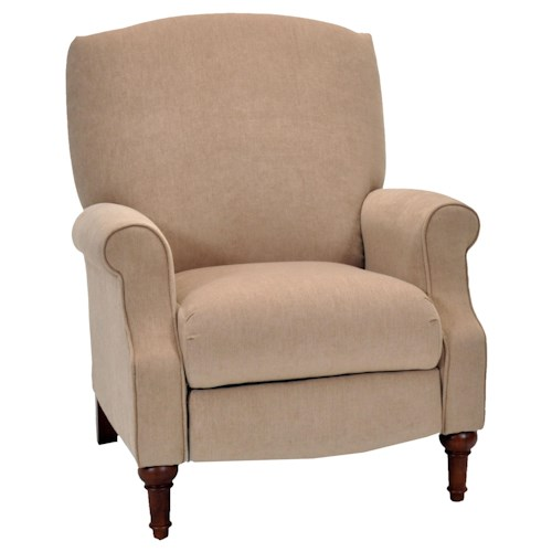 Franklin High and Low Leg Recliners  Kate Traditional Styled High Leg Reclining Chair