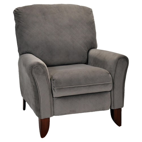 Franklin High and Low Leg Recliners Lola High Leg Recliner with Contemporary Casual Style