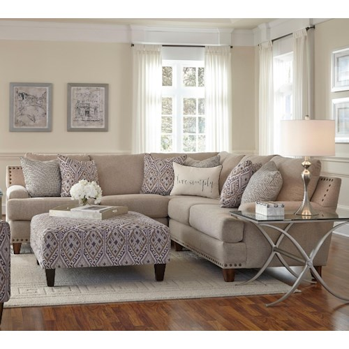 Franklin Julienne Sectional Sofa with Four Seats