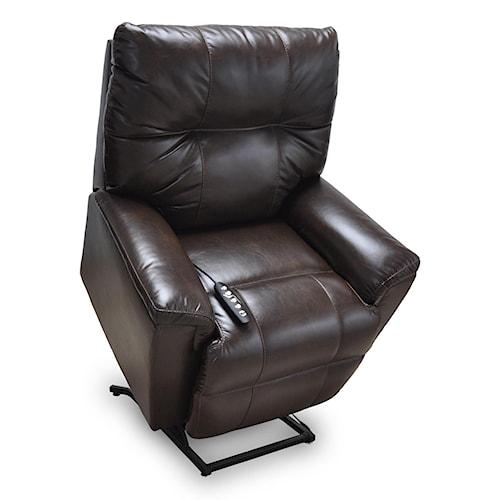 Franklin Lift and Power Recliners Finn Power Lay Flat Lift Chair with Massage & Power Headrest