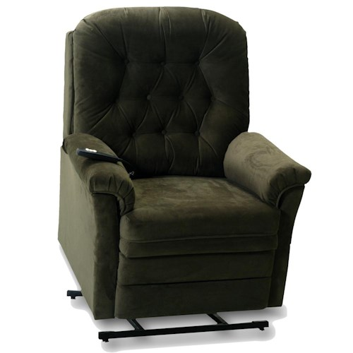 Franklin Lift and Power Recliners Lift and Power Recliner with Tufted Seat Back