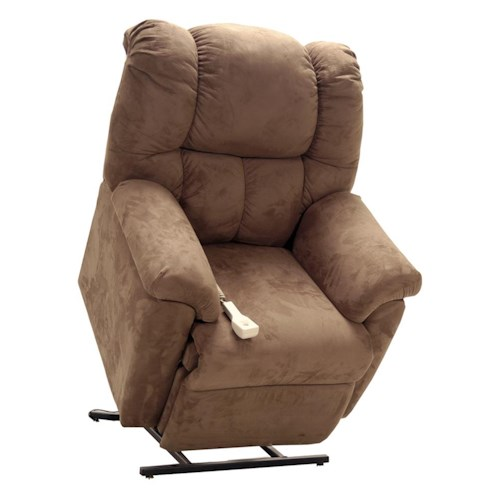 Franklin Lift and Power Recliners Lift and Power Recliner with Rolled Chair Back