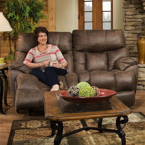 Franklin Mammoth POWER Reclining Loveseat with Extra Tall and Wide Seats