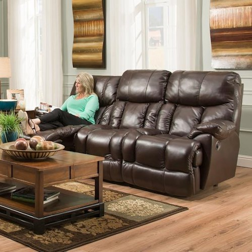 Franklin Mammoth POWER Reclining Sofa with Extra Tall and Wide Seats