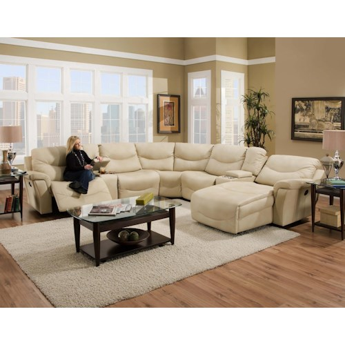 Franklin Milano  Sectional Sofa with Consoles