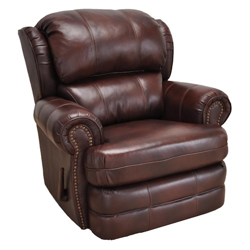 Franklin Franklin Recliners Bradford Recliner with Traditional Style and Nailheads