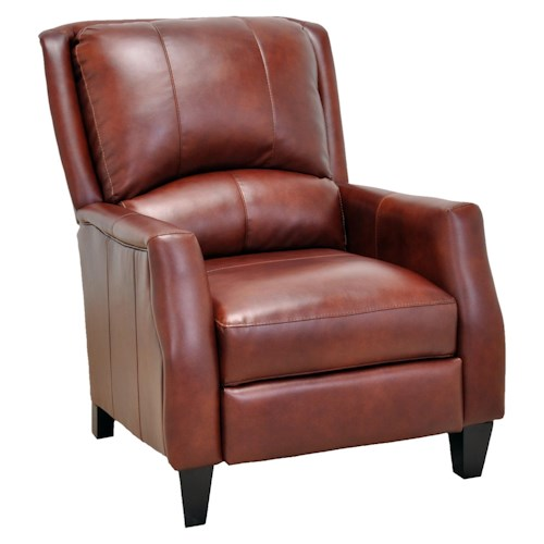 Franklin Franklin Recliners Cosmo Push Back Recliner with Wooden Legs in Contemporary Style