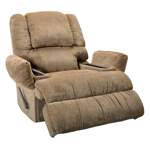 Franklin Franklin Recliners Clayton Rocker Recliner with Massage and Frosty Fridge