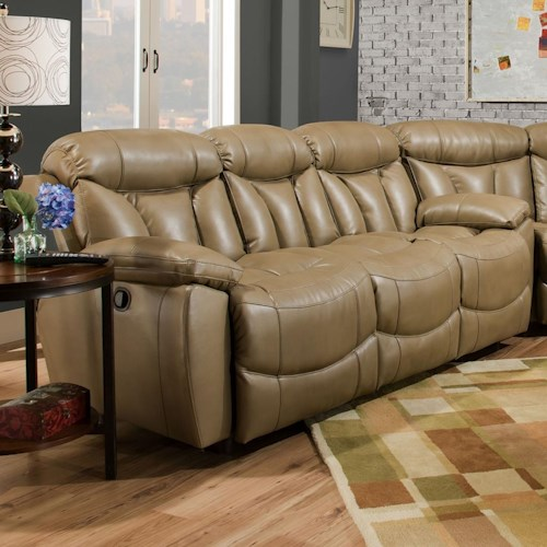 Franklin Wescott Double Reclining Sofa with Headrests