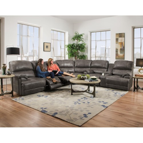 Franklin York Reclining Sectional Sofa