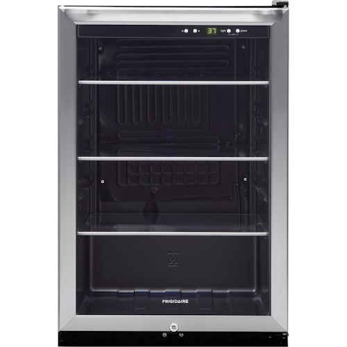 Frigidaire Beverage Cooler 4.6 Cu. Ft. 3-Shelf Beverage Center with 138-12 oz. Can Capacity