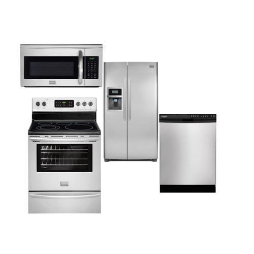 Frigidaire Frigidaire Gallery Electric Ranges 4 Piece Frigidaire Gallery Appliance Package with Electric Range