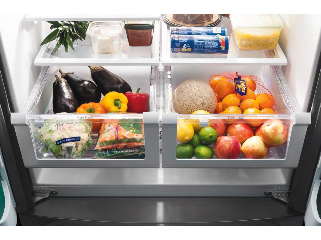 Humidity Controlled Crisper Drawers