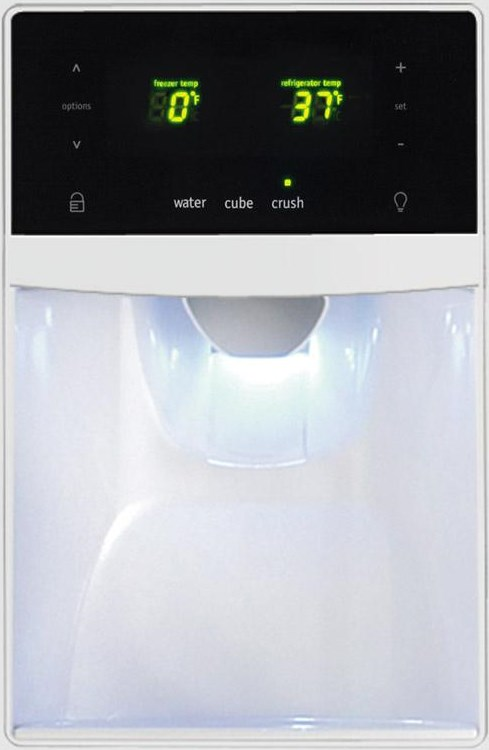 Express-Select® Controls on Ice and Water Dispenser