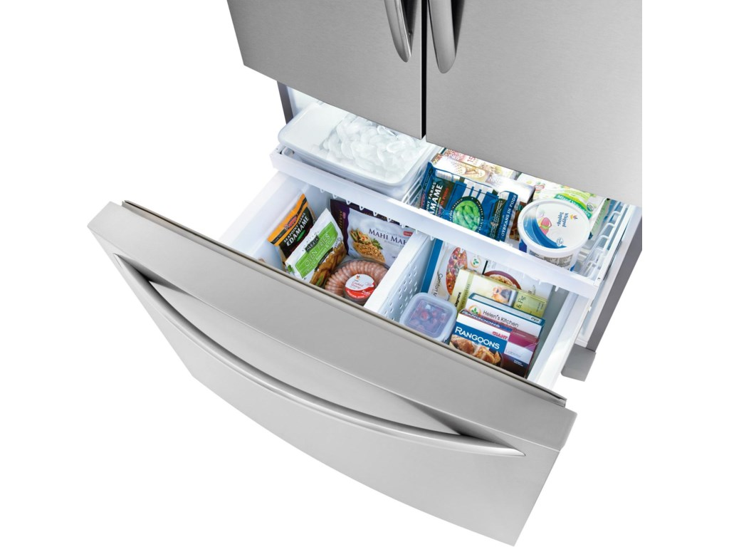 2 Freezer Basket with Adjustable Divider