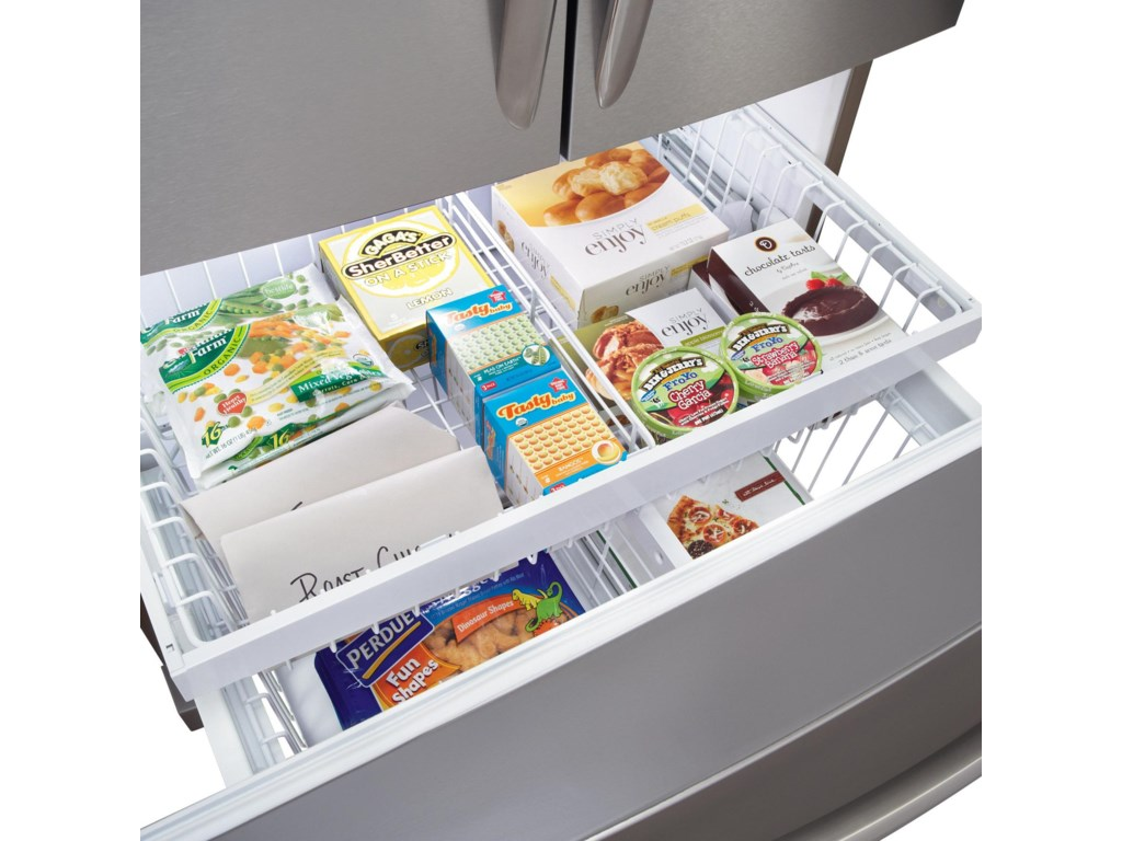 Effortless Glide Freezer Drawers
