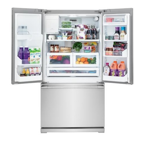Frigidaire Professional - French Door Refrigerators 22.6 Cu. Ft. French Door Counter-Depth Refrigerator with PureSource® Ultra II Water Filtration