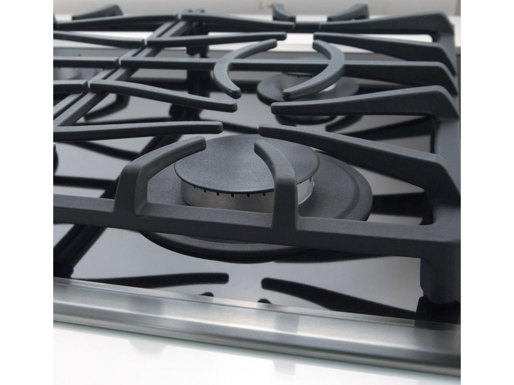 Continuous Grates Make it Easy to Move Heavy Pots and Pans Between Burners without Lifting