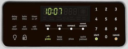 Digital Display and Digital Oven Controls