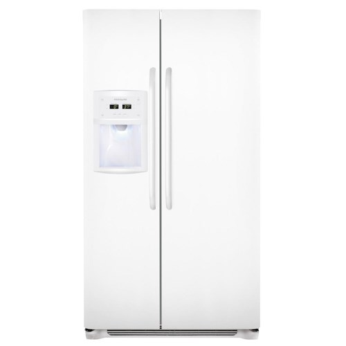 Frigidaire Side-By-Side Refrigerators ENERGY STAR® 23 Cu. Ft. Side-by-Side Counter-Depth Refrigerator with Dispenser
