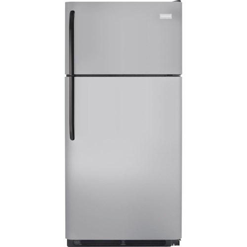 Frigidaire Top Freezer Refrigerators 18 Cu. Ft. Top Freezer Refrigerator with Full-Width Wire Freezer Shelf Space