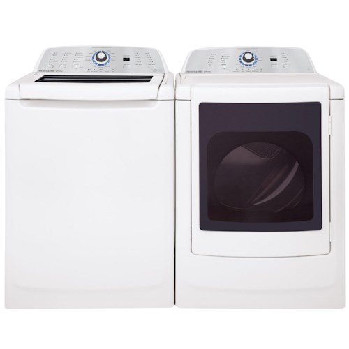 Frigidaire Washer and Dryer Set ENERGY STAR® 3.4 Cu. Ft. Top-Load Washer and 7.0 Cu. Ft. Affinity Front-Load Electric Dryer with Stainless Steel Drum