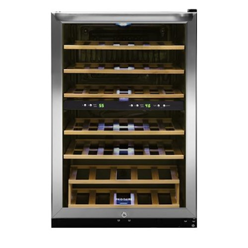 Frigidaire Wine Coolers 38 Bottle Two-Zone Wine Cooler