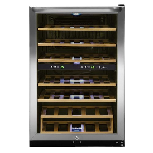 Frigidaire Wine Coolers 4.6 Cu. Ft. Two-Zone Wine Cooler with 38 Bottle Capacity