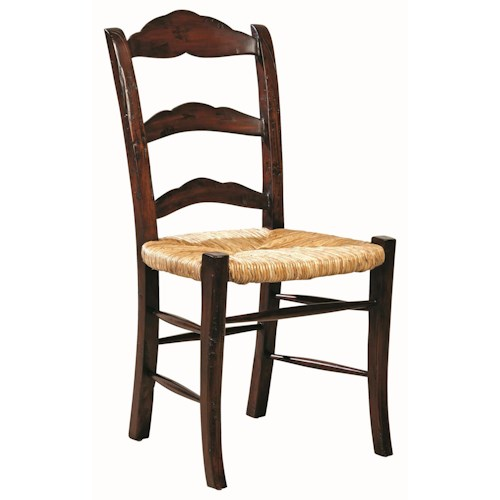 Furniture Classics Accents Solid Mahogany Caroline Side Chair with Rush Seat