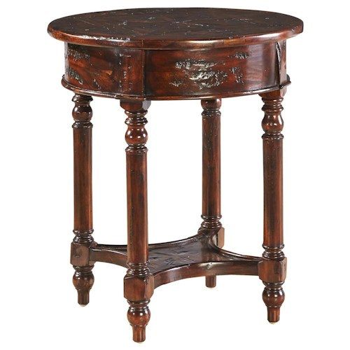Furniture Classics Accents Distressed Mahogany Old Fashioned Martini Table