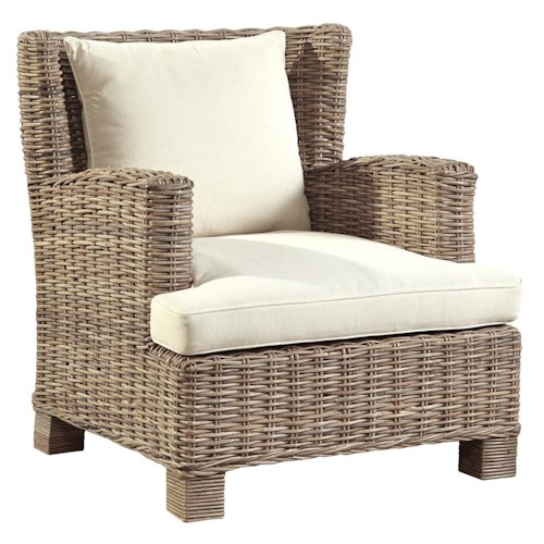 Furniture Classics Accents Oasis Club Chair in Diftwood Color Kubu Rattan