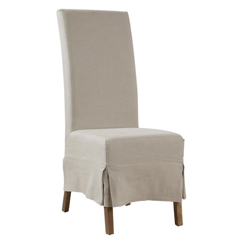 Furniture Classics Accents Linen Slip Covered Parsons Chair