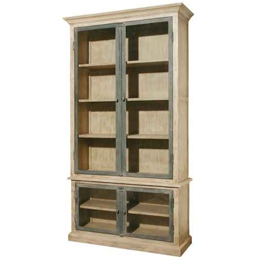 Furniture Classics Accents Casement Cabinet with 4 Doors and 4 Shelves