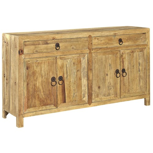 Furniture Classics Accents Solid Wood Old Elm Sideboard