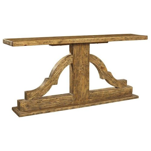 Furniture Classics Accents Rustic Style Bracket Console