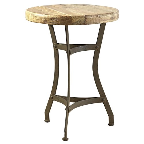 Furniture Classics Accents Recycled Tripod Table with Antique Wooden Top