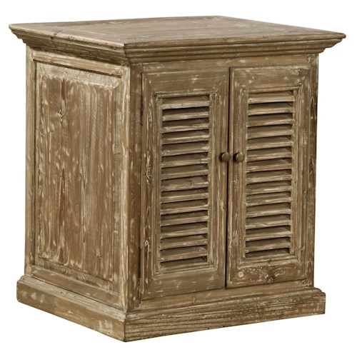 Furniture Classics Accents Reclaimed Wood Hilton Side Table with Louver Doors