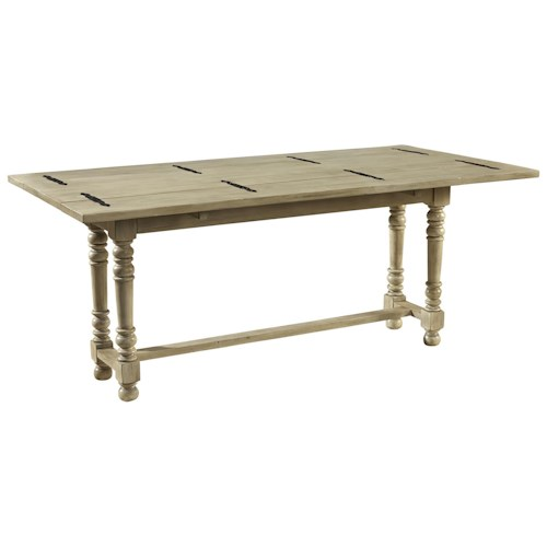 Furniture Classics Accents Solid Mahogany Book Leaf Dining Table in Swedish Gray Finish