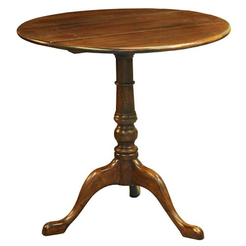 Furniture Classics Accents Wine Table with Single Pedestal Base