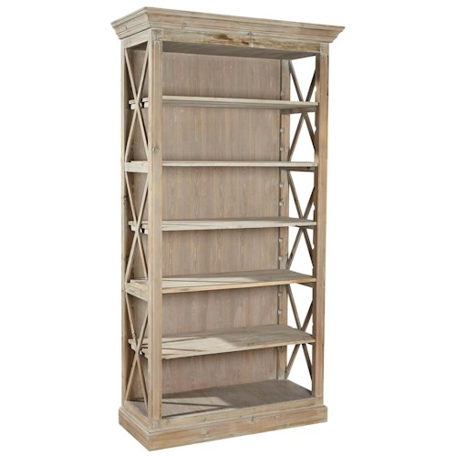 Furniture Classics Accents Weathered Open Bookcase with 5 Adjustable Shelves