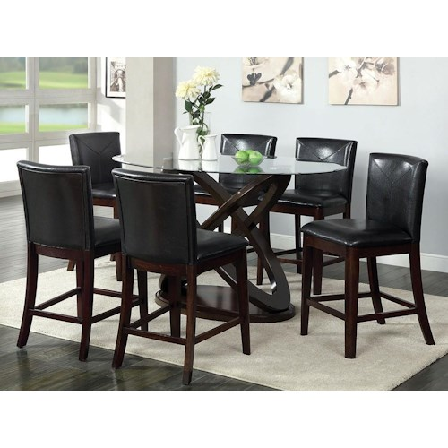 Furniture of America / Import Direct Antenna II 5pc Counter Height Table Dining Set