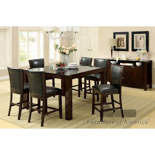 Furniture of America / Import Direct CM3062+710 7 piece Dining Set Black Friday Deal