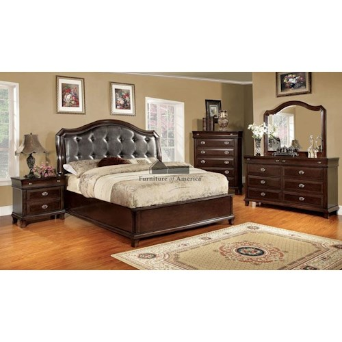 Furniture of America / Import Direct CM7065 Queen 6 piece Set
