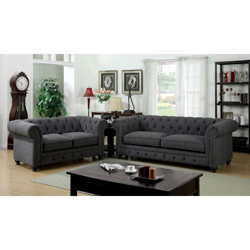 Furniture of America / Import Direct Stanford Stanford Gray Sofa Group