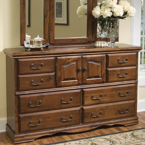 Furniture Traditions Alder Hill Dresser with 10 Drawers